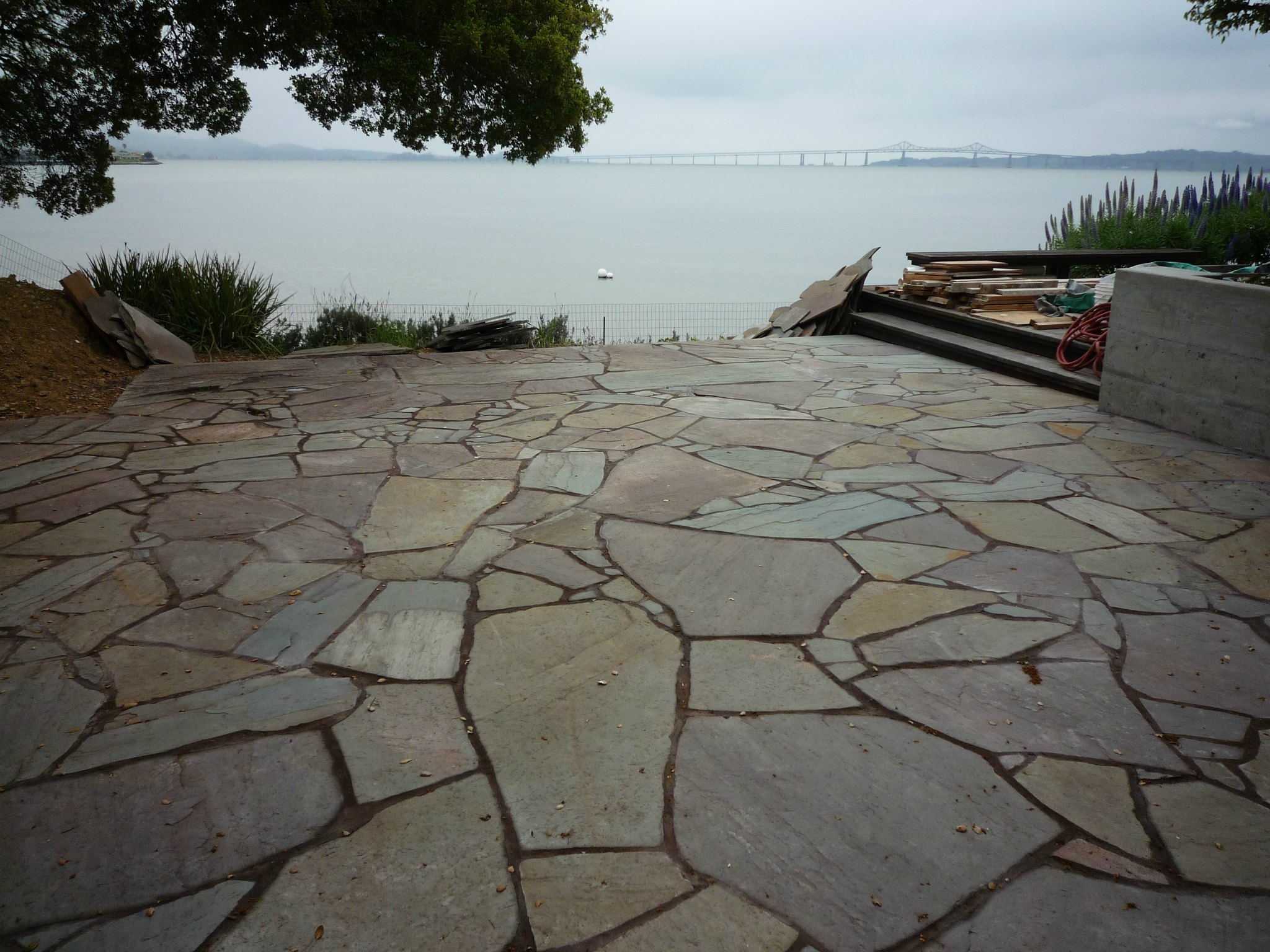 Marin Landscaping bluestone patio mosaic